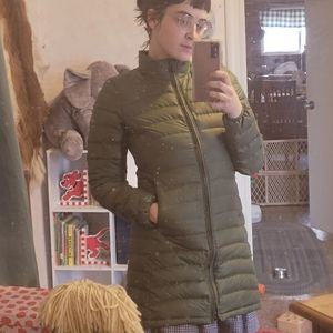 Olive green small women's Patagonia down jacket